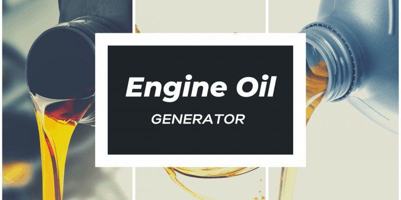 What Kind of Oil Does a Generator Use
